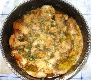 Դիետիկ ձուկ բանջարեղենով