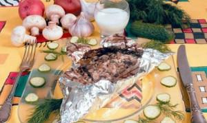 Սունկով տավարի միս