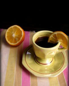 Կիտրոնով սուրճ
