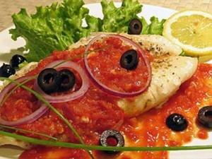 Ձուկ կարմիր թանձրահյութով